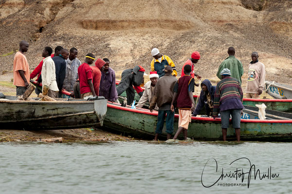 The Kazinga Channel, Lake Edward and Lake George are of high interest for the local fishermen.....