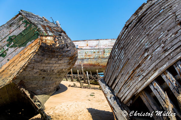 Shipwreck Graveyard in France