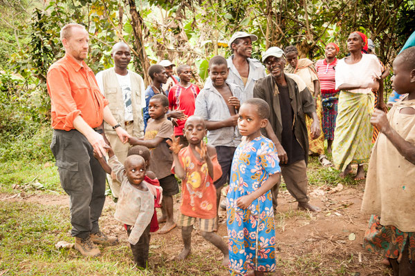 Christof Muller with Batwa