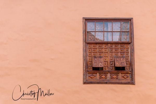 Wooden window of a house in Garachico.
