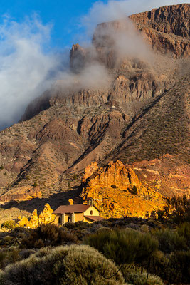 Ermita de las Nieves in the caldera Las Cañadas del Teide.