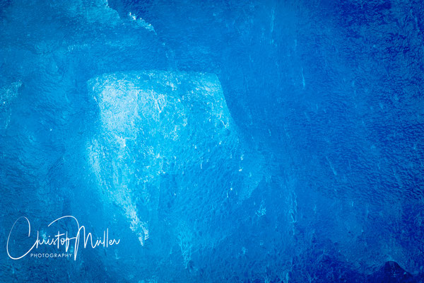 """""""Hues of Blue"""" Iceberg detail showing the pattern of the ice and different blue tones, Tracy Arm, Alaska"""