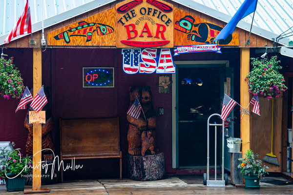"""The most famous bar in South-East Alaska """"the Office Bar"""" in Hoonah"""