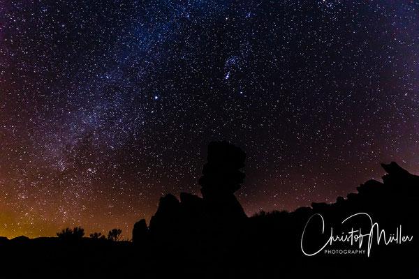 Night Sky with Milky Way over Roques de Garcia