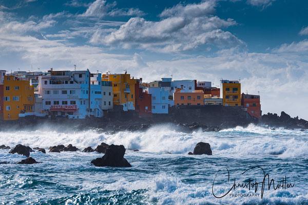 Punta Brava in Porto de la Cruz view from Maria Jimenez beach