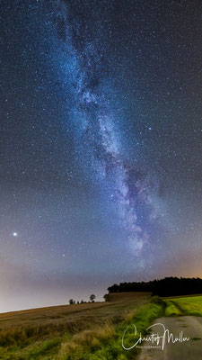 The Milky Way in the North of Luxembourg in the Ardennes (Oesling)