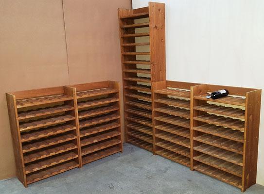 Portabottiglie legno - per 48 o 96 bottiglie di vino