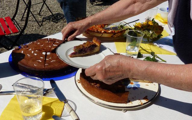 Dreierlei selbstgebackenen Kuchen -wie herrlich!