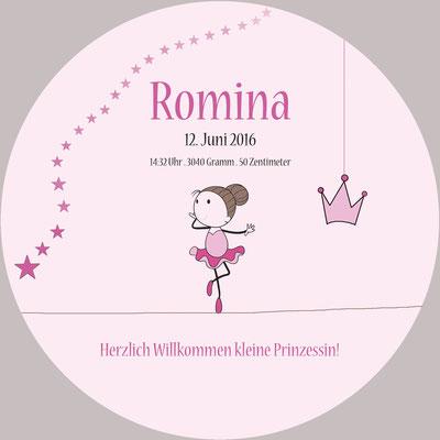 Romina Vorderseite / 148x148mm / rund