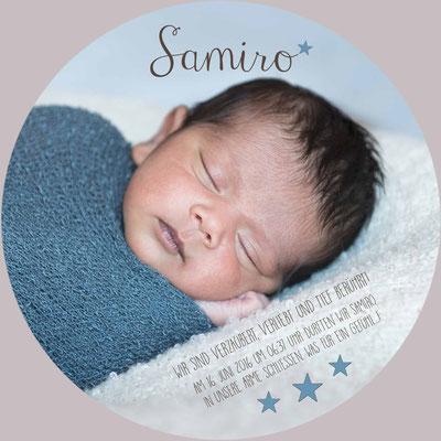 Samiro Luan Vorderseite / 148x148mm / rund