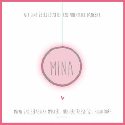 Mina Rückseite / 148x148mm