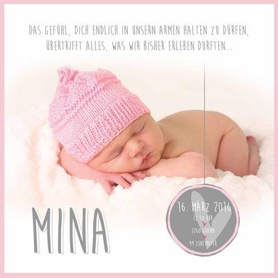 Mina Vorderseite / 148x148mm