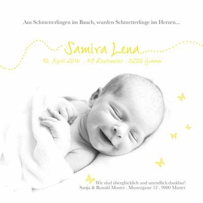 Samira Lena Rückseite / 148x148mm