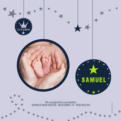 Samuel Rückseite / 148x148mm