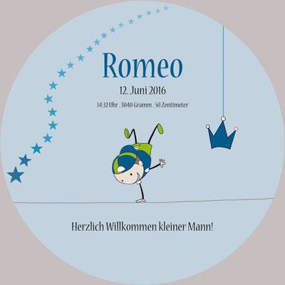 Romeo Vorderseite / 148x148mm / rund
