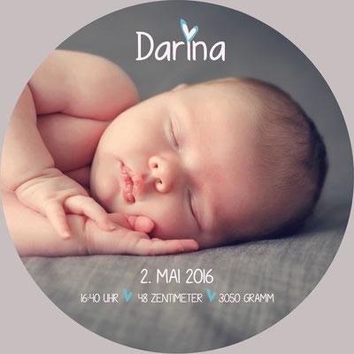 Darina Vorderseite / 148x148mm / rund