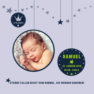 Samuel Vorderseite / 148x148mm