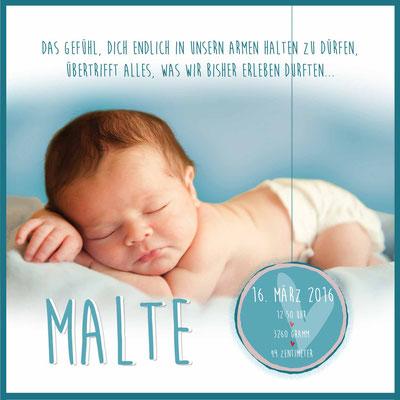 Malte Vorderseite / 148x148mm
