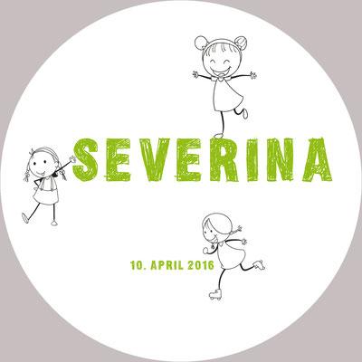 Severina Vorderseite / 148x148mm / rund