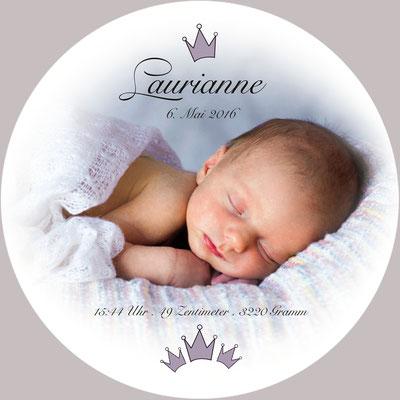 Laurianne Vorderseite / 148x148mm / rund