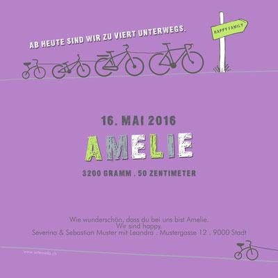 Amelie Rückseite / 148x148mm