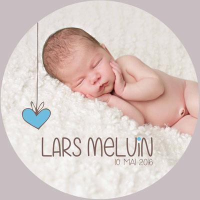 Lars Melvin Vorderseite / 148x148mm / rund