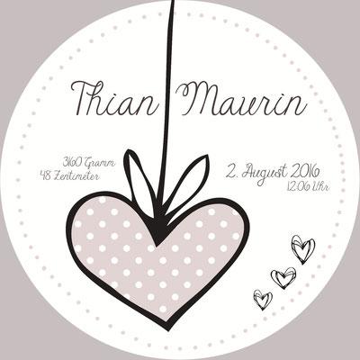 Thian Maurin Vorderseite / 148x148mm / rund