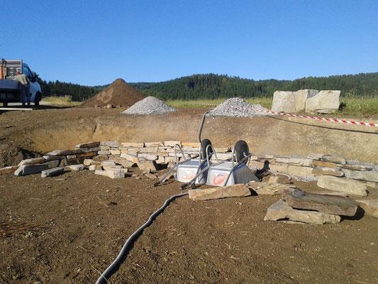 Ende des Baustellentages... zusammengeräumte Baustelle