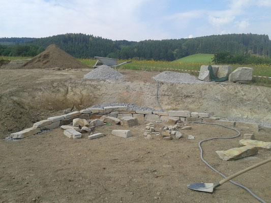 Beginn Mauerbau