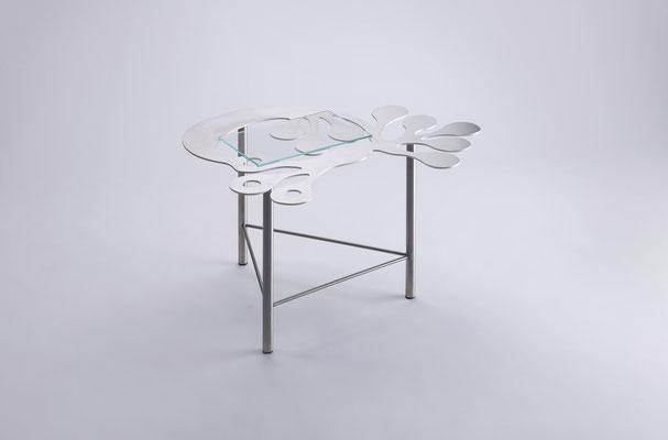 Floreszens     Tavolino da tè in acciaio inox  01