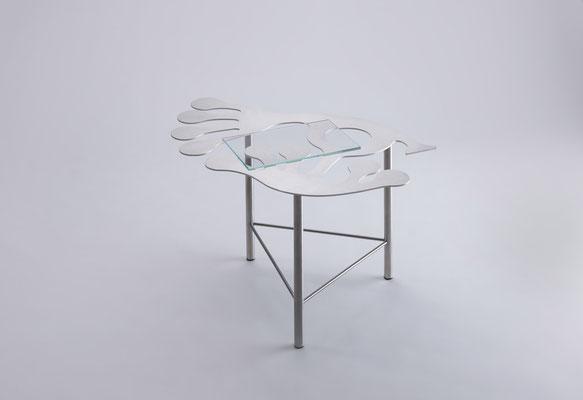 Floreszens     Tavolino da tè in acciaio inox  05