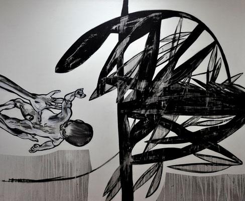 Ein Kind = die ganze Welt, 2012, 200x160 cm, acrilico su tela