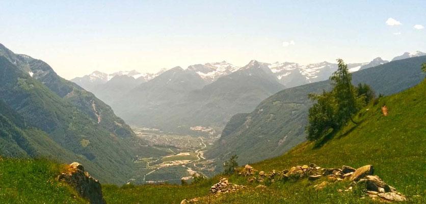 Panoramica su Biasca da Anzano
