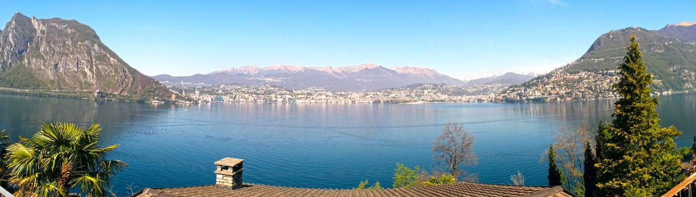 Panoramica su  Lugano da Caprino