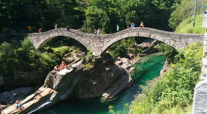 Panoramica sul ponte di Lavertezzo