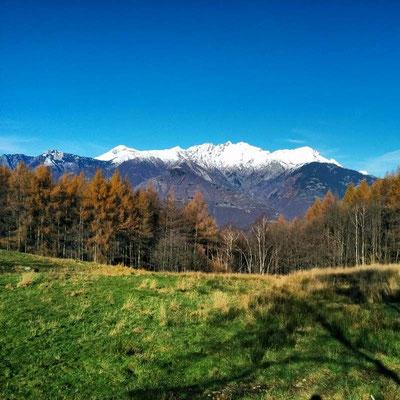 Vista verso nord con le cime locarnesi e bellinzonesi