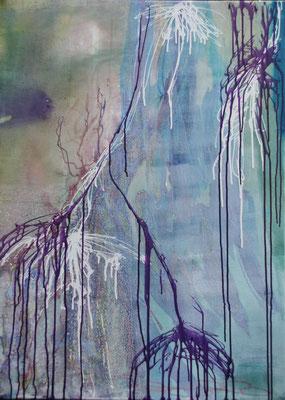 Glens 1,  80 x 110 cm, acryl op linnen