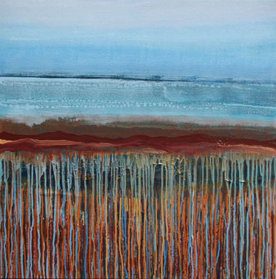 Ruta Iberica-6,  90 x 90 cm, acryl op linnen