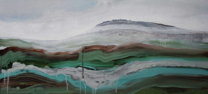 Ruta Iberica-1,  57 x 125 cm, acryl op linnen