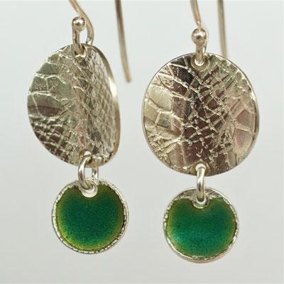 Texture dentelle-émail vert foncé