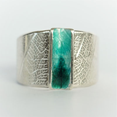 Texture feuille-émail turquoise/vert