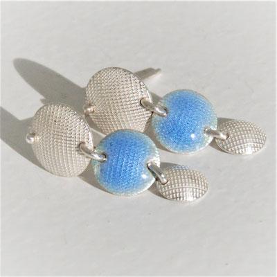 Texture croisée-émail opale bleu