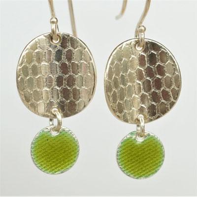 Texture abeille-émail vert kaki