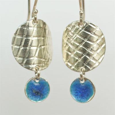 Texture carreaux-émail bleu