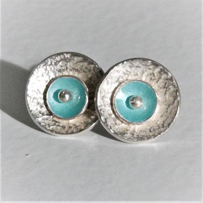 Texture froissée-émail turquoise turquoise