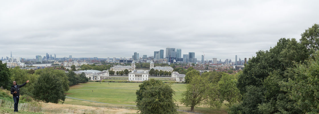 Queens House, Greenwich and London Skyline