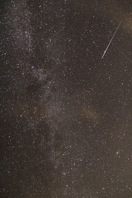 Milchstrasse im Schwan (oben) und Cassiopeia (unten), Andromedanebel M31 (rechts)