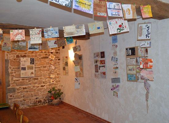Dim 12 (9h-13h) exposition Mail Art Across the World, enveloppes calligraphiées à Cultur'Café OZOLLES