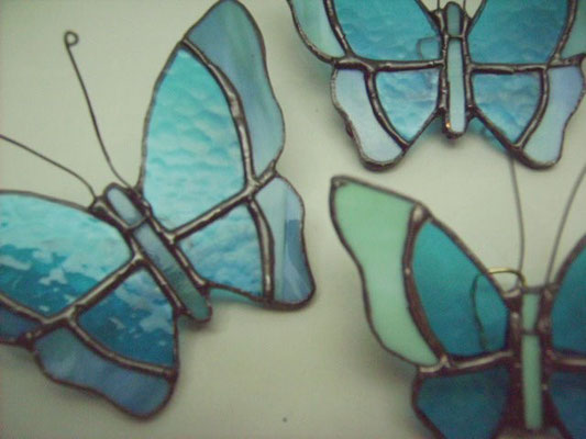 Set de Mariposas 3 pzas - Módulos decorativos de pared - Color Azul - (1 Gd, 2 Med.)