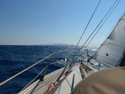 From Vela Luka/Korcula island to Lastovo island with main reef1+jib